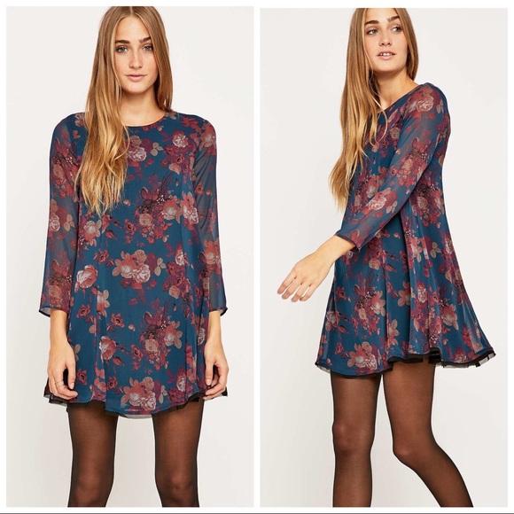 fb91323d4ea2 Urban Outfitters Dresses | Kimchi Blue Navy Floral Dress | Poshmark